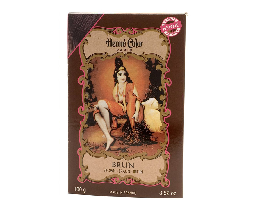 Henné Color Paris Brun Henna Powder, Henné Color 100g - Hnedá