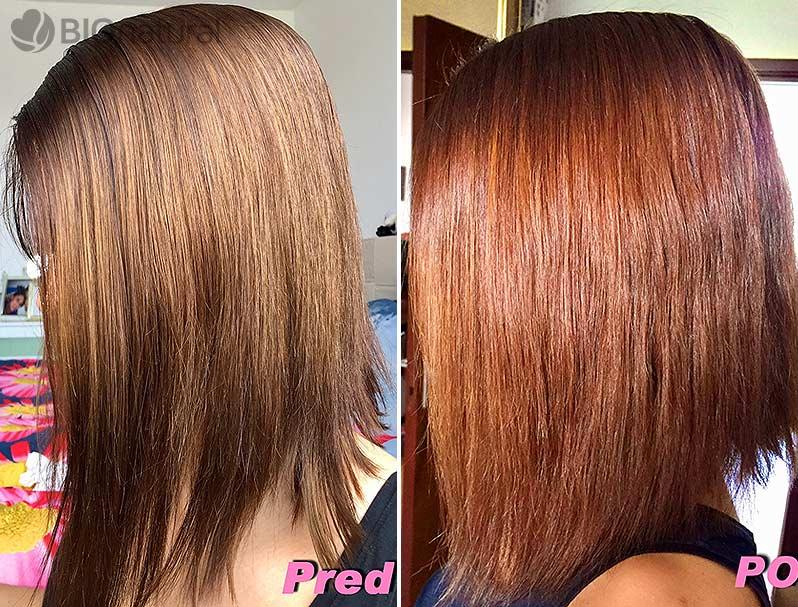 Gaštanovo mahagónová henna na vlasy