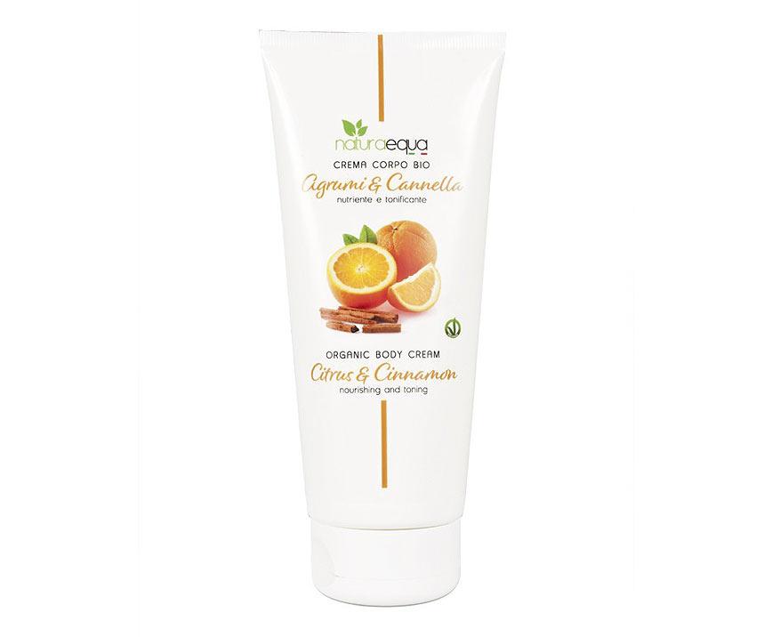 NaturaEqua Bio telový krém Citrusy a škorica 200 ml