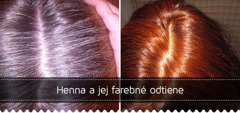 Henna a jej farebné odtiene